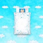 baby toi オリジナルデザインベビー布団「寝かしつけがもっと、楽しくなる! 絵本オフトン baby book fufu」が2012年6月15日(金)に完成しました。